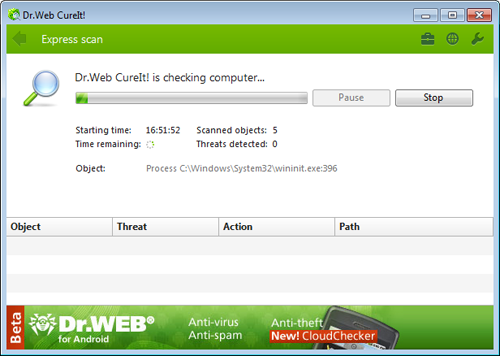 Dr. Web Cureit Antivirus