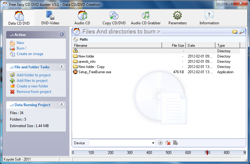 Free Easy CD DVD Burner 5.1