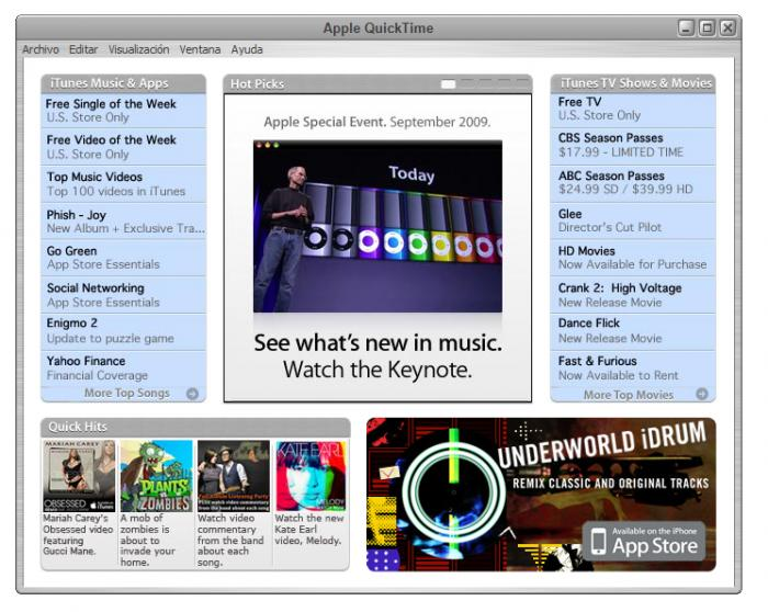 Old Version of QuickTime Player 40 Download - OldAppscom